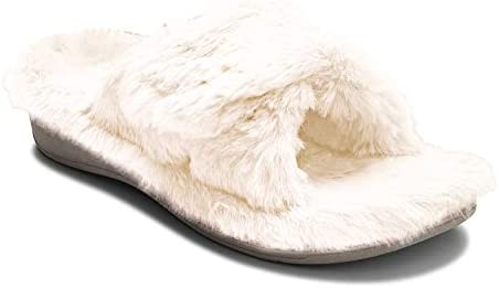 Amazon.com | Vionic Women's Indulge Relax Plush Slipper - Adjustable Slipper  with Concealed Orthotic Support | Slippers