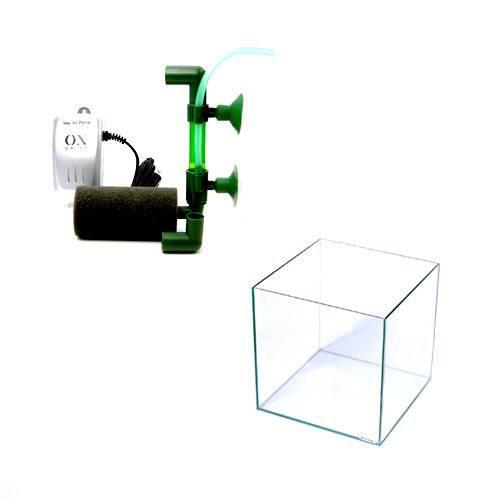 稚魚育成水槽セット クリスタルキューブ200+テトラ ミニフィルターキット