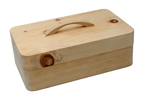JOWE® Brotdose aus Zirbe | Zirbenbrotdose | Brotkasten aus Zirbenholz | Gefräst, ohne Zubehör