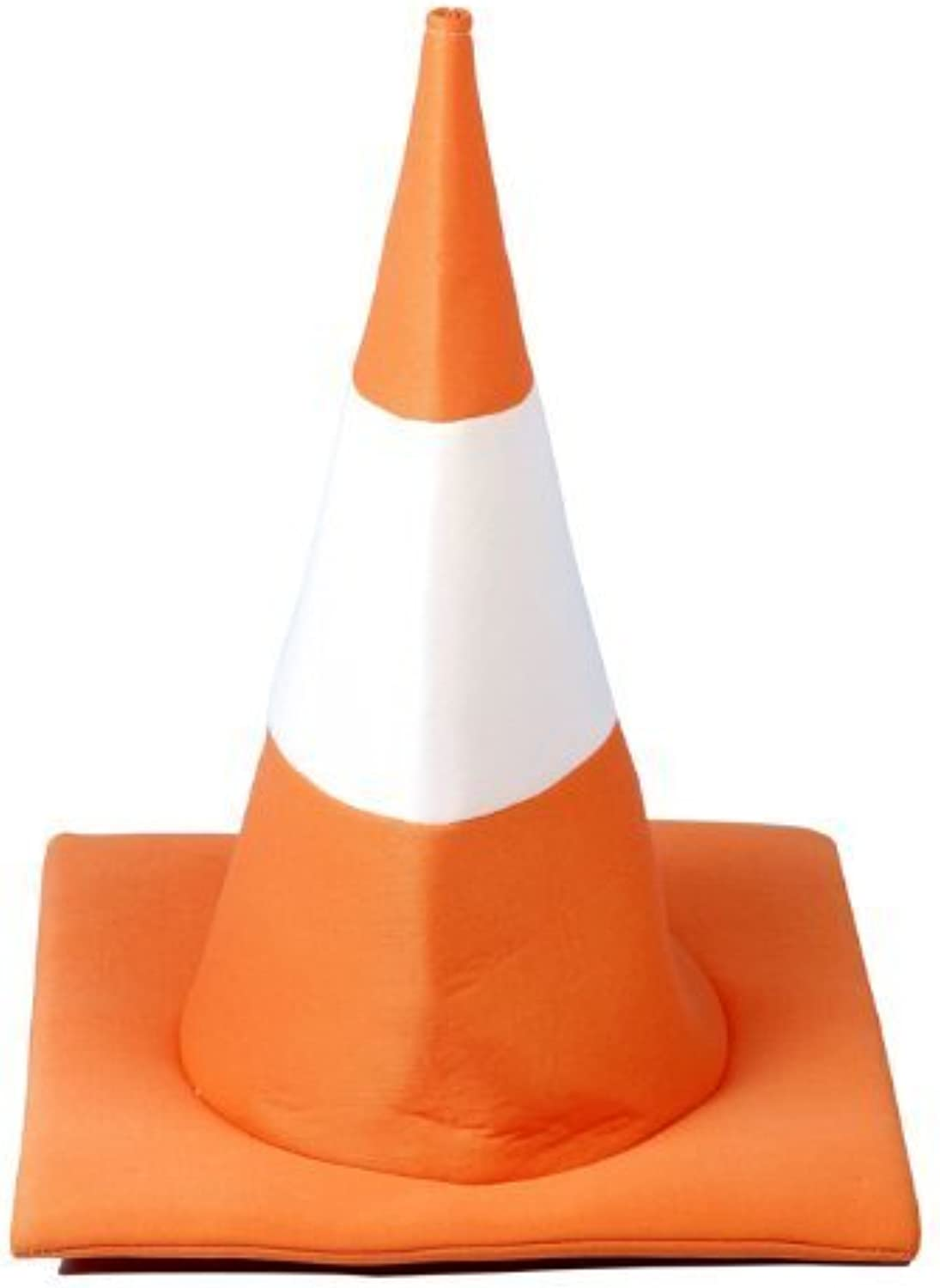 orange and White Traffic Cone Fancy Dress Hat by Henbrandt