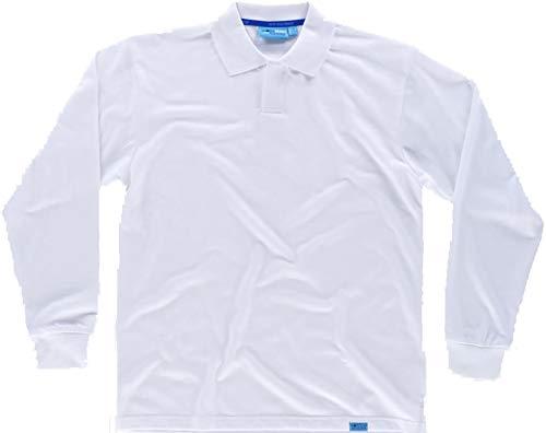 Workteam Polo Trabajo Antibacteriano de Manga Larga, Cierre de Velcro, 100% algodón...