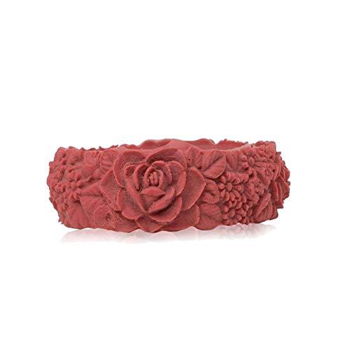 obag Pulsera Silicona con Estampado 3D Flores Color Marsala