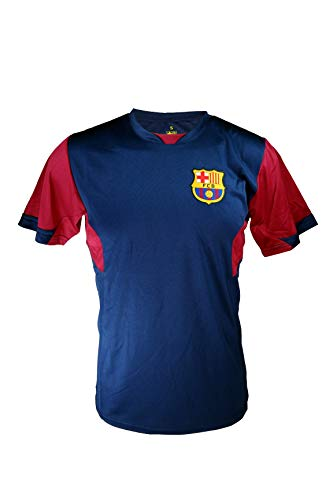 Icon Sports Men FC Barcelona Officially Licensed Soccer Poly Shirt Jersey -11 Large