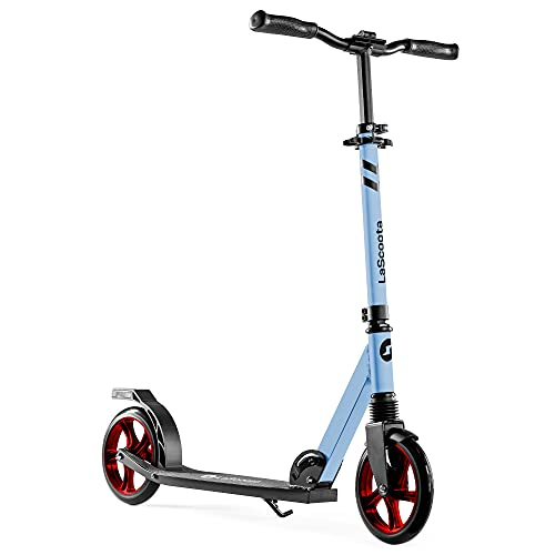 Lascoota Scooters for Kids 8 Years and up - Featuring Quick-Release Folding System - Dual Suspension System + Scooter Shoulder Strap 7.9' Big Wheels Great Scooters for Adults and Teens (Fusion)