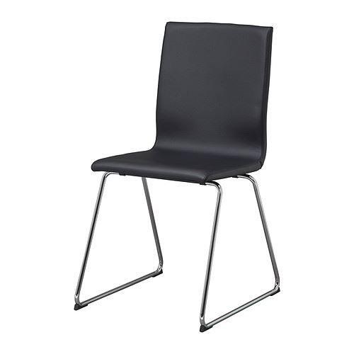 Silla VOLFGANG -, cromo-plateado, Idhult negro