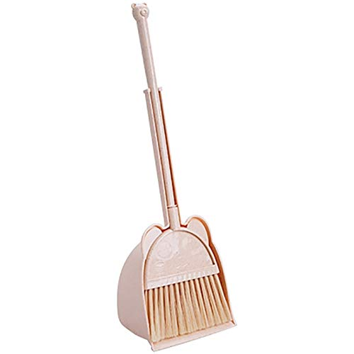 ZXCJIA Escoba Escoba para Niños Pequeña Escoba Cepillo De Aprendizaje Herramienta De Escoba Soft Broom Broom Combinación 16 * 13 * 51cm Beige