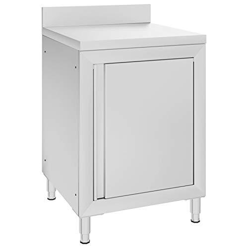 Tidyard Muebles de hogar Mesa de Trabajo Comercial Mueble Acero Inoxidable 60x60x96 cm
