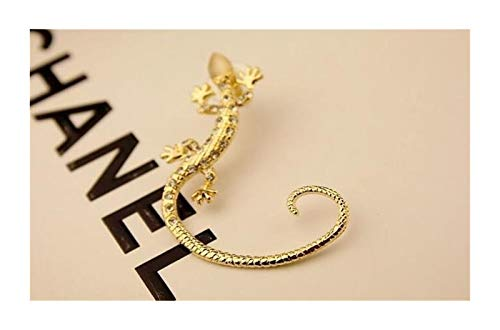 XPWOZ 1 pair of fashionable crystal luxury exaggerated animal female hoop earrings (Color : 1 gold 1 sliver, Size : Gold)
