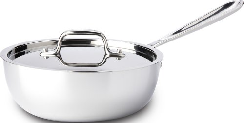 All-Clad 8701004396 Saucier Pan, 2-Quart, Stainless Steel