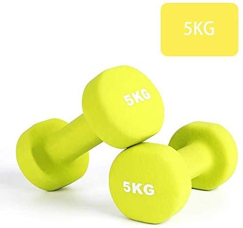 Dip Dumbbells Damen Fitness Sportausrüstung Schulter und Rücken-Übungen for Training Kraft Hantel for Yoga (Size : 10KG(5kg*2))