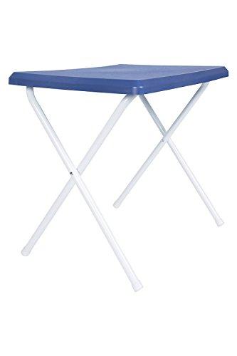 Mountain Warehouse Low Folding Table - Lightweight Dining Table, Steel Folding Legs Navy