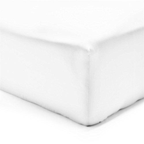 Vision Drap Housse Blanc 160x200cm - 100% Coton