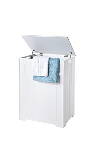 Elegant Brands Wäschetruhe aus Holz, weiß, 36x 50x 68cm