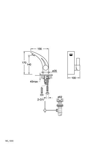 Steinberg Serie 220 Waschtisch Armatur mit Joystick Kartusche Einhebelmischer 220.1000 - 4