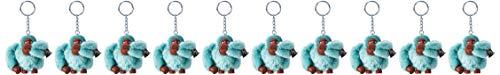 Kipling Damen Monkeyclip M Pack10 Schlüsselanhänger, 10er Pack, Blau (Aqua Frost), 5x7x4.5 cm (B x H x T)