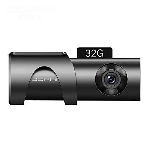 DDPai Mini3 Car Dash CAM 32G eMMC 1600P HD Cámara de automóvil Grabadora de Video Grabación en Bucle Amplio Rango dinámico Vista panorámica de 360 Grados