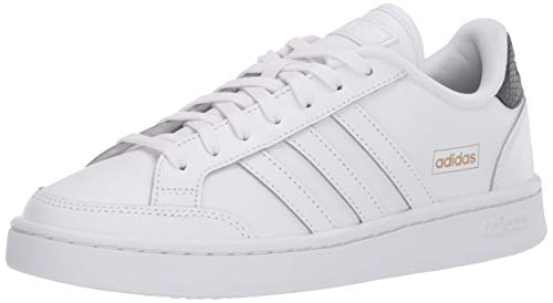 adidas Women's Grand Court SE Tennis Shoe, White/White/Grey, 7
