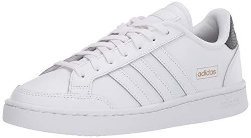 adidas Women's Grand Court SE Tennis Shoe, White/White/Grey, 7.5