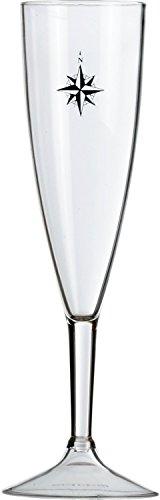 Marine Business Northwind Copa Champagne, Transparente y Azul, 5.2 x 5.2 x 22 cm, 6 Unidades