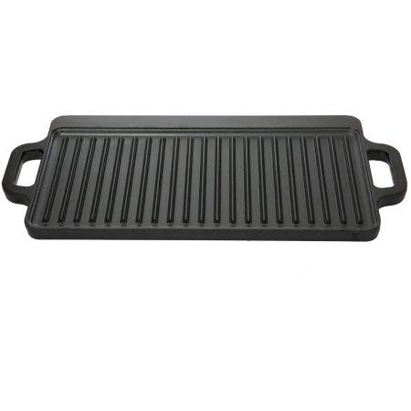 Ozark Trail Small Cast Iron Reversible Griddle, Pre-Seasoned Sports & Outdoors Camping Cooking Equipment Cookware