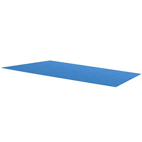 vidaXL Blue 118 x 79 inch Rectangle PE Solar Cover | Heating Blanket for In-Ground and Above-Ground Rectangular Swimming Pools | Use Sun to Heat Pool | Face Bubble-Side Down