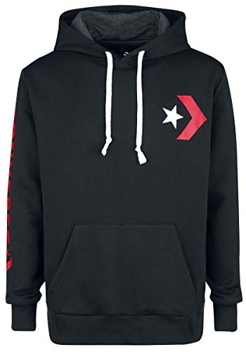 Converse Herren Star Chevron Graphic Pullover Hoodie Kapuzenpullover, Schwarz Black 001, X-Large