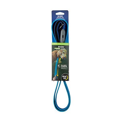 Nite Ize Leine von NiteDog, wiederaufladbar, über USB wiederaufladbar, 1,52 m beleuchtete Hundeleine mit gepolstertem Griff, One Size, blau