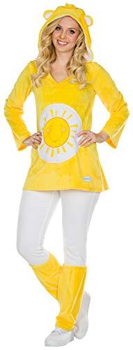 Rubie's Sonnenscheinbärchi Kostüm Größe L Damen Sunshine gelb Bär Karneval Fasching