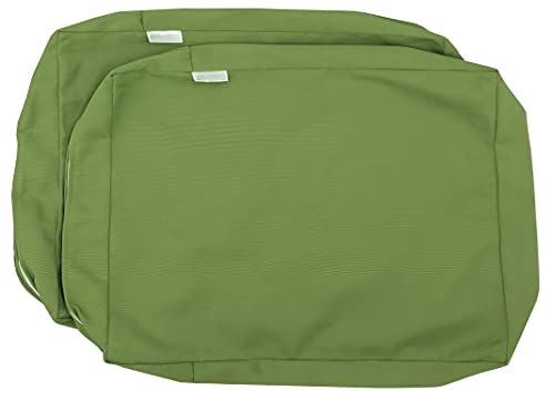 """Pistachio Green Outdoor Water Repellent Patio Chair Cushion Seat Back Pillow Covers (22""""x14""""x4"""" (2 Covers))"""
