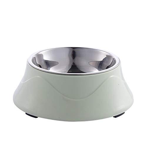 Demarkt Hondenmand voederbak voor honden kat kunststof roestvrij staal antislip voor kleine medium grote honden puppy's