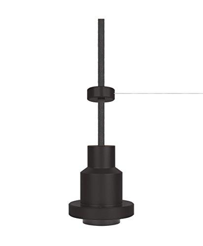 Osram Vintage Edition 1906 Pendulum, schwarz, E27 - Fassung, Deckenleuchte, flexibles Zugseilsystem, P20, Gehäuse aus Aluminium