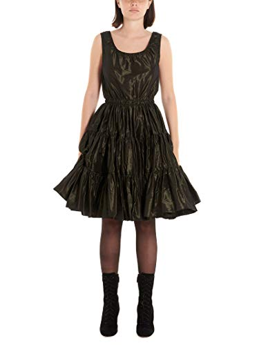 Miu Miu Luxury Fashion Damen MF3482658F0161 Grün Seide Kleid | Herbst Winter 19