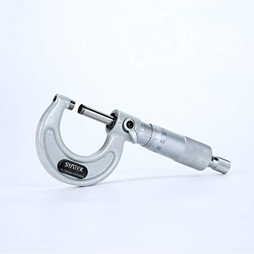 Brightz 0,01 mm Micrómetro Exterior 0-25-50-75-100mm de vía métrica métrica de Metal Duro analógico micrómetro a Vernier de medición Herramientas (Specification : 0 25mm)