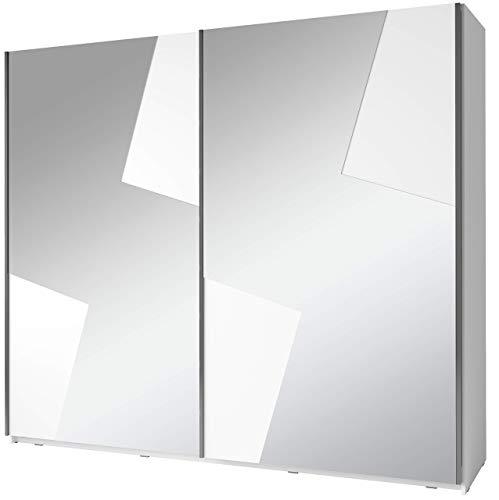 Movian - Armoire à portes coulissantes Lagan, 2portes, 250 x 218 x 66cm, Blanc alpin Couleur