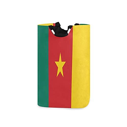 Wäschekorb, offizielle Kamerun-Flagge, mit großen Aufbewahrungsbehältern, wasserdicht, faltbar, Leinen, Eimer mit Handgriffen für Aufbewahrungskorb, Kinderzimmer, Zuhause, Kinderzimmer, Babyzimmer