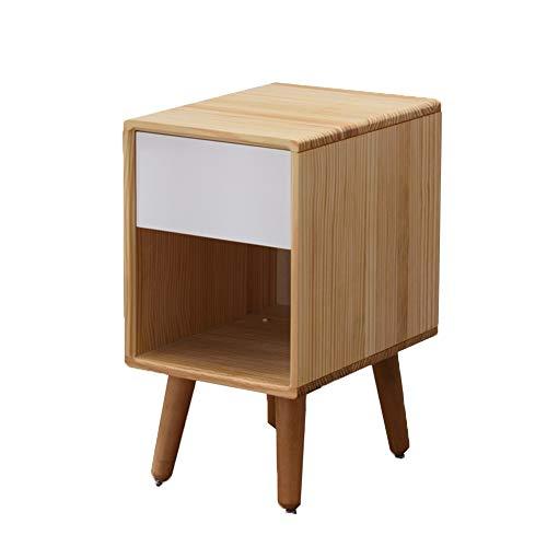 ZHAOYONGLI Table D'appoint Basse Tables Basses Café Table De Chevet De Piédestal De Classement De Meubles De Maison De Tiroir De Table De Chevet En Bois De Cabinet