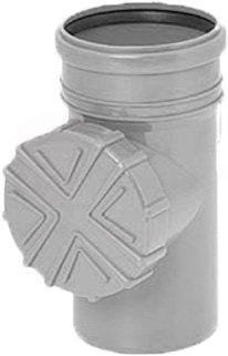 Regen Wasser Reinigungsrohr DN 100 Ø 110 mm braun grau graphit orange Laub Sieb Ablauf Fallrohr Rohr Dachrinne (Grau)