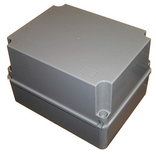 Caja de conexiones impermeable profunda de 240 mm con tapa con bisagras...