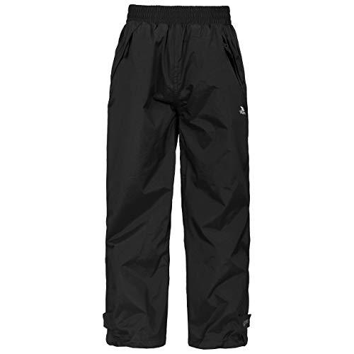 Trespass Echo Pantalons imperméables Mixte Enfant, Noir, 9-10 Ans
