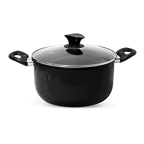 World's Greatest Pot - Combination Cooking Pot with Built-in Colander, Steamer Basket and Glass lid - 20cm+25cm