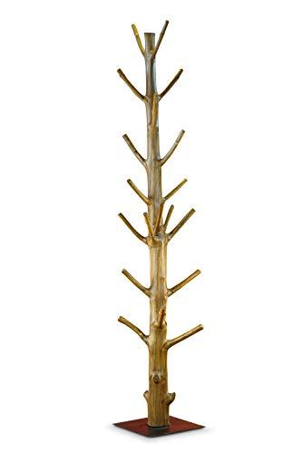Kinaree garderobestandaard boomstam Mangosteen | natuurlijk garderobestandaard van massief hout | handgemaakt & uniek | stabiel houten kapstok uit een complete boom Rustiek Koloniaal