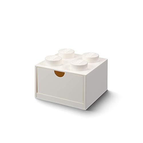 Room Copenhagen- Cassetto da scrivania Lego 4, Bianco, Colore Bottoni, 40201735