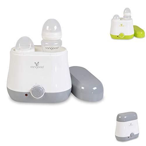 Cangaroo Flaschenwärmer BabyDuo, für 2 Flaschen, Sterilisation von Kleinteilen, Farbe:grau