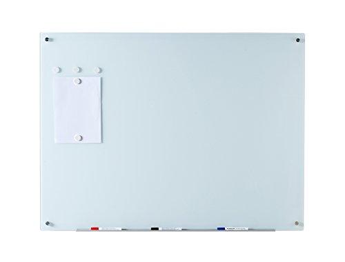 Weiß Glas-Magnettafel Schreibtafel - 80 cm x 110 cm - Inklusive Brett, Magneten, Halter für Board-Marker