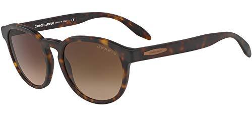 Giorgio Armani 0AR8115 Gafas de sol, Matte Dark Havana, 52 para Hombre