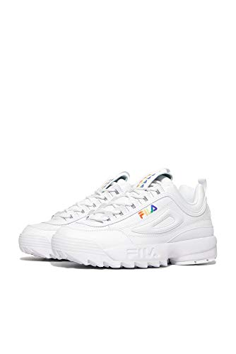 Fila Men's Casual Sneaker, White/White/Multi, 8