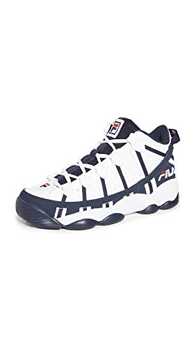 Fila Men's Stackhouse Spaghetti Sneakers, White Navy Red, 13 Medium US