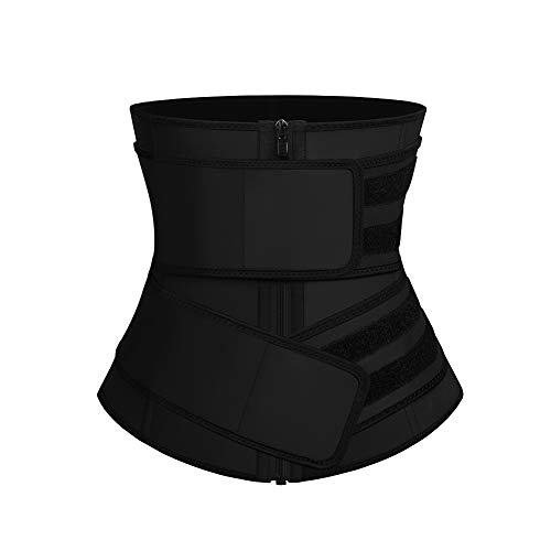 FeelinGirl Women's Latex Underbust Corset Waist Training Trainer Sport Girdle