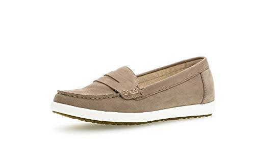 Gabor Damen SlipperMokassins, Frauen Slipper,Comfort-Mehrweite, Slip-on College Schuh Loafer businessschuh Damen,Silk (Honig/Ambra),38.5 EU / 5.5 UK