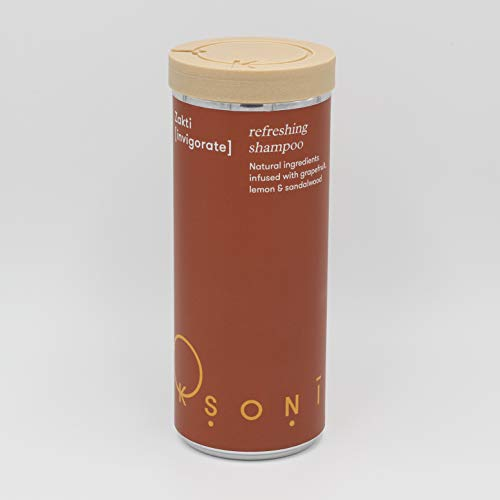 Ksoni Plastic-Free Shampoo - Vegan - Eco Friendly - All Natural Ingredients - For All Hair Types - Shampoo in a Can! (Zakti with Cap)